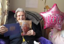 Phyllis Bateman celebrates her 100th birthday at Greenfields in Whitchurch