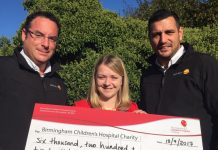 Mark Tweddle Jupiter Group MD, Gemma Hooley Regional Fundraising Manager for BCH, Anthony Sahota, Harper's Father