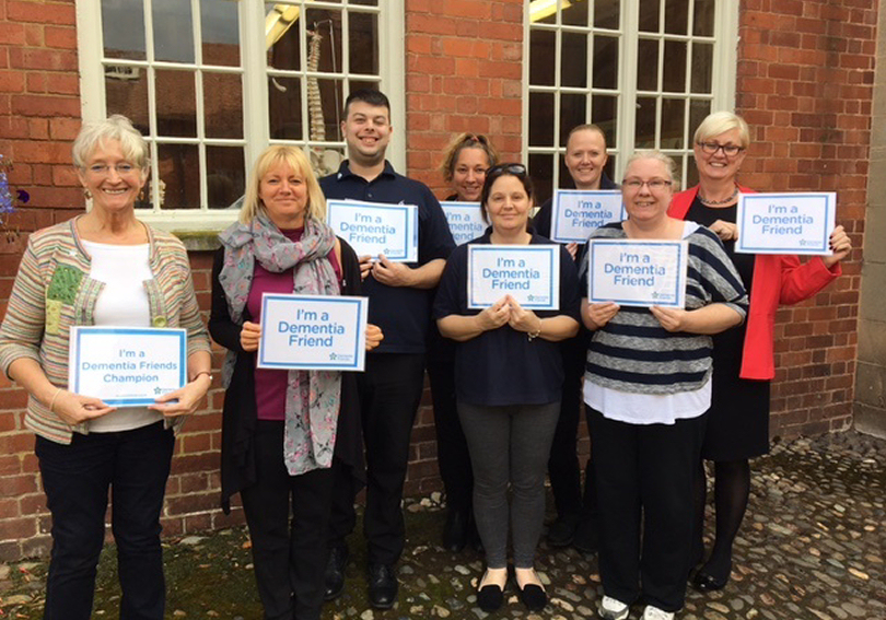 Viv Edgar - Dementia Friends Champion, Jacqui Houlston, Paul Hook, Angela Parks, Ivana Keyte, Sarah Woodward, Tracy Thompson and Maisy Owen from Quil Care Group
