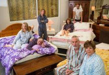 Members of the cast from Bedroom Farce