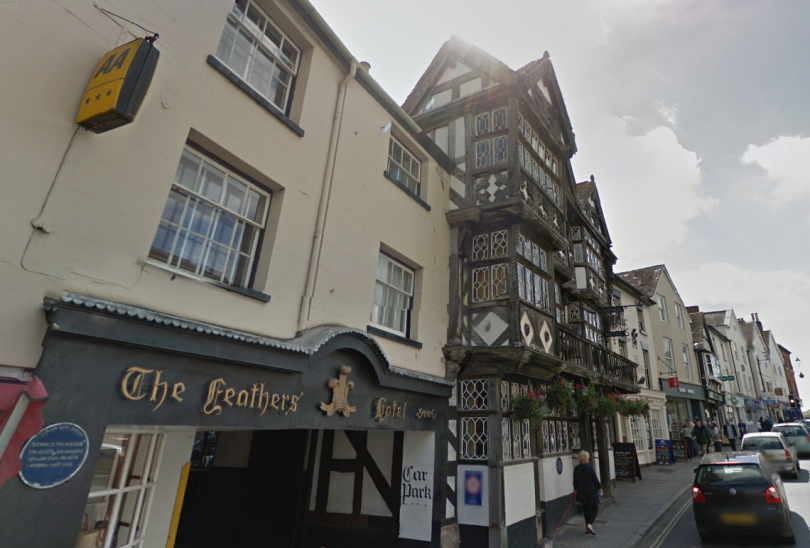 The Feathers Hotel in Ludlow. Photo: Google Street View