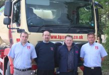 At TG Concrete are, from left, Peter Strachan, Martin Rogers, Dave Morris and Chris Kilvert