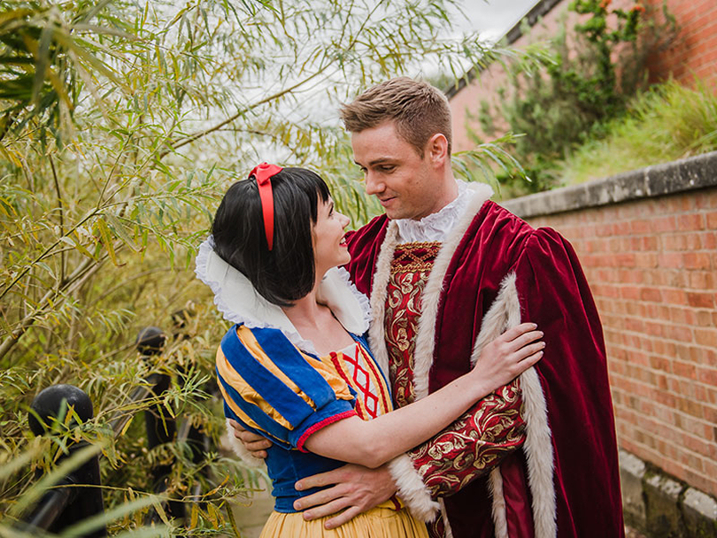 Victoria McCabe takes the title role as Snow White with Oliver Watton as Prince