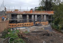 Work on the new refreshment room and toilet block at Bridgnorth Station is progressing well