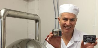 Andrew Reeves is pictured with the chocolate hazelnuts and chocolate almonds
