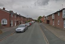 The robbery happened on Crewe Street in Shrewsbury