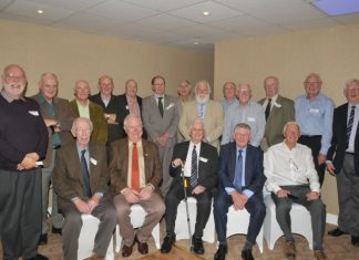 Some of the retired officers at the celebration