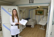 Ruth Smith in her Market Drayton clinic