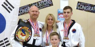 Excalibur Martial Arts students Dean, Tammy, Luke and Harry