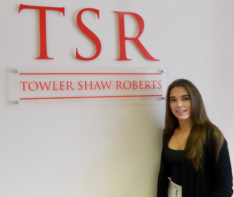 Larissa Jones has become the first apprentice with Towler Shaw Roberts