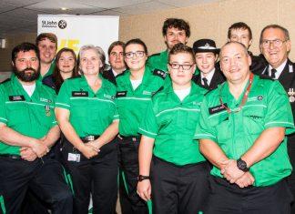 Oswestry St John Ambulance volunteers celebrate their centenary
