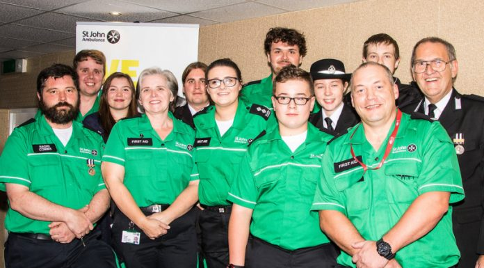 Oswestry St John Ambulance volunteers celebrate their centenary. Photo: Paul Tanner