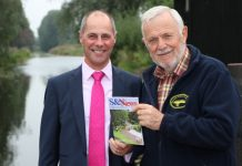 Shrewsbury and Newport Canals Trust chairman, Bernie Jones, with Robert Nicholas Financial Advisers director, Steve Graves, by the canal in Newport