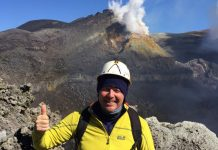 "Simon Wright succeeded in tackling Sicily's ""Mighty Four"" volcanoes"