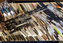 A previous campaign saw knives and three swords handed in to Telford Police Station
