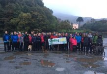 Sixty climbers tackled the highest mountain in Wales