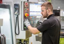A machine operator at Proto Labs in Telford