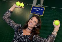 Tennis ace Annabel Croft opened the new four-court tennis centre at Ellesmere College