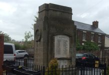 Gobowen War Memorial has recently been given Grade II listed status. Photo: Nia Jones