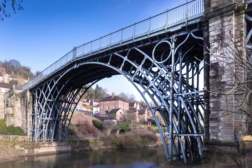 The Iron Bridge has spanned the River Severn in Shropshire since 1779. Photo: English Heritage