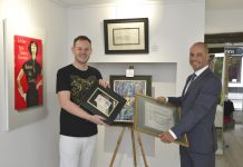 Jonathan Soden and business partner Paul Corbett at the new gallery