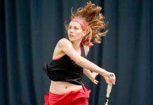 Local player Lauren McMinn in action at The Shrewsbury Club. Photo: Richard Dawson Photography