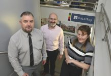 New Galliers directors Darren Abley, Steve Cassie and Emma Macdonald