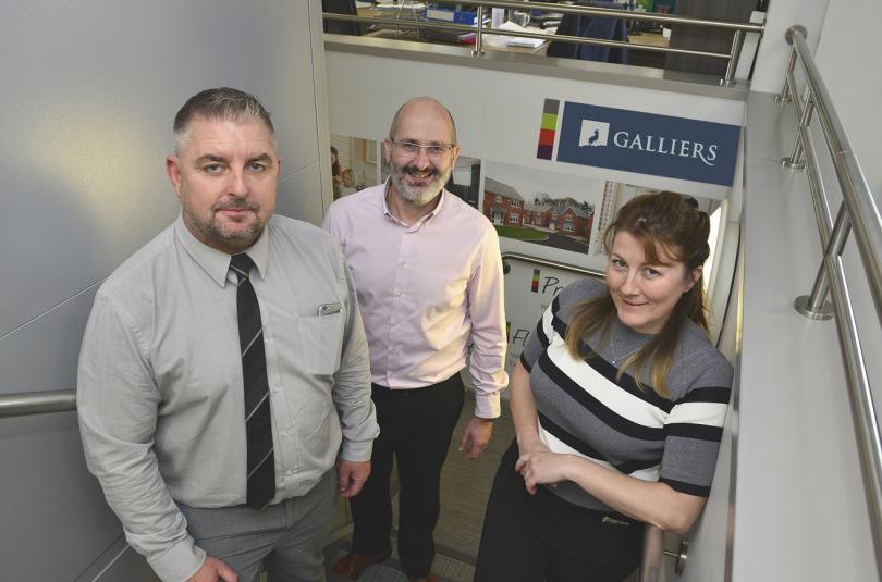 New Galliers directors Darren Abley, Steve Cassie and Emma Macdonald
