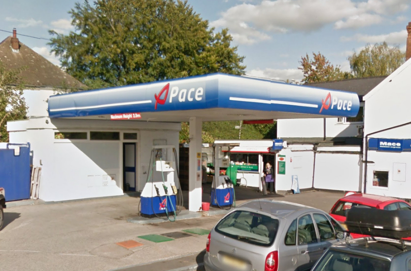 The robbery took place at a petrol station in Cross Houses. Photo: Google Street View