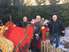 Richard Cresswell, Peter Smith and Sid Andrews get ready for the Santa specials on the Severn Valley Railway