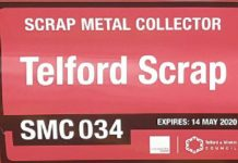 New signs for scrap dealers