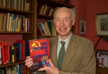 Selby Martin with his book - 'From Communism to Community: Memoirs of a Diplomat and Teacher'