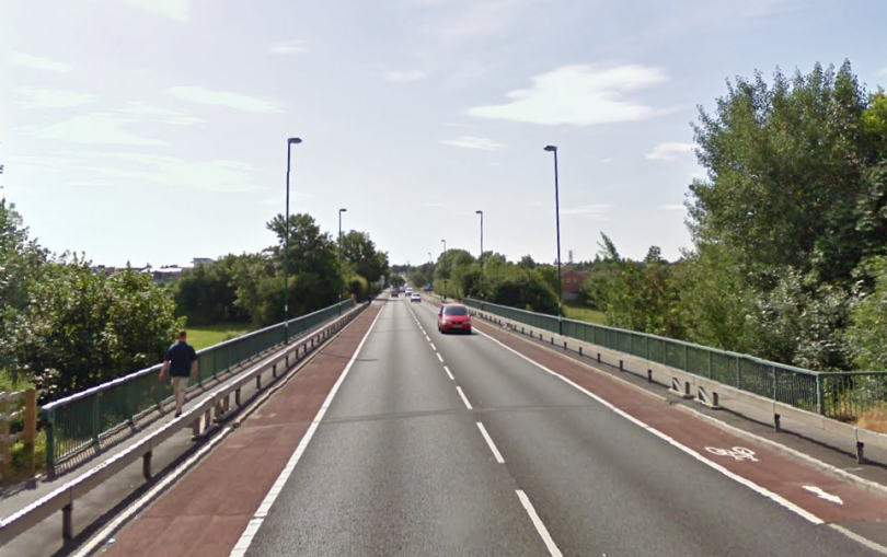 The collision happened on Telford Way in Shrewsbury. Photo: Google Street View