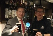 Wayne Jenson of Buckatree Hall Hotel and Reuben Crouch of Hobsons