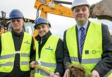 The cut of success... Dr Achim Brandenburg, Craemer Group's Senior Managing Partner, Steve Poppitt, managing director of Craemer UK, and Councillor Lee Carter, Telford & Wrekin Council's cabinet member for Economic Development