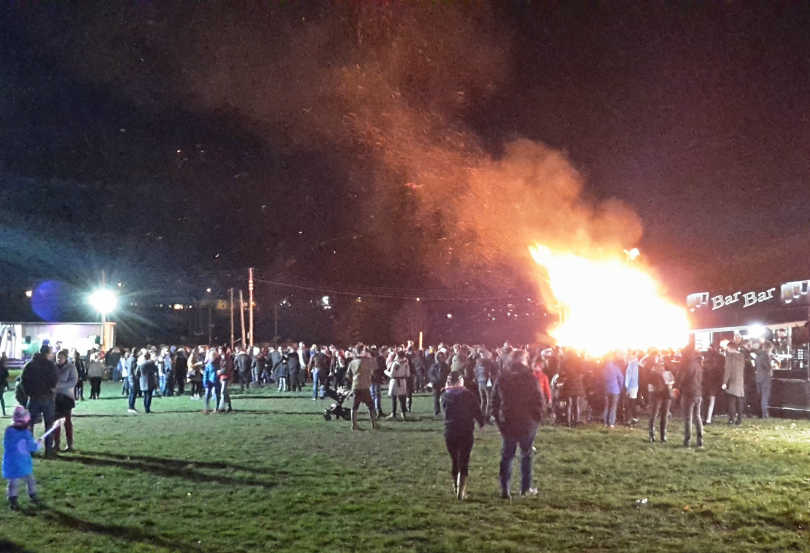 The charity bonfire and fireworks raised more than £10,000 for charity