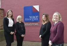 Wace Morgan Solicitors new recruits, Toni Mathieson, Sarah Cussen, Nicola Ward and Ann Thomas