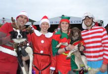 Prizes were awarded for best male, female, child & canine festive outfits