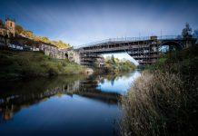 The Iron Bridge in Shropshire is undergoing restoration work. Photo: English Heritage