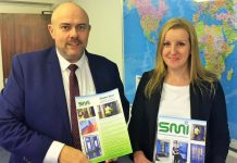 Mike McGrath and Jayne Meakin at SMI's Telford headquarters