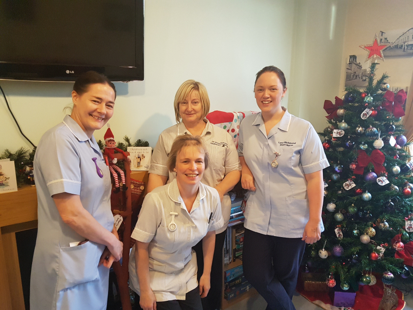 some of the team on sheldon ward from left julie rogers staff nurse - A Christmas To Remember