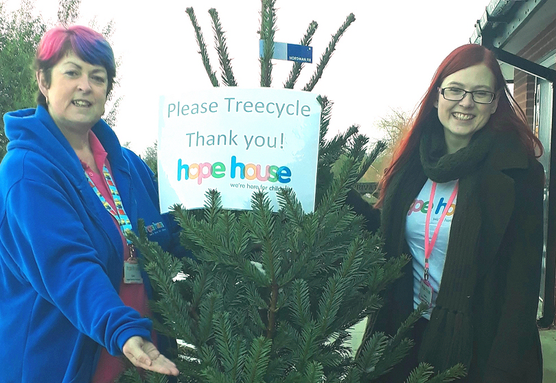 Rachel Lewis and Claire Jones from Hope House