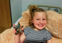 Childhood cancer survivor Skyla Upton (5) is helping launch Cancer Research UK Kids & Teens Star Awards in partnership with TK Maxx