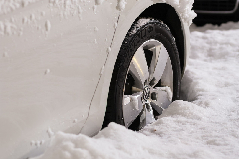Snow and Car Tyre