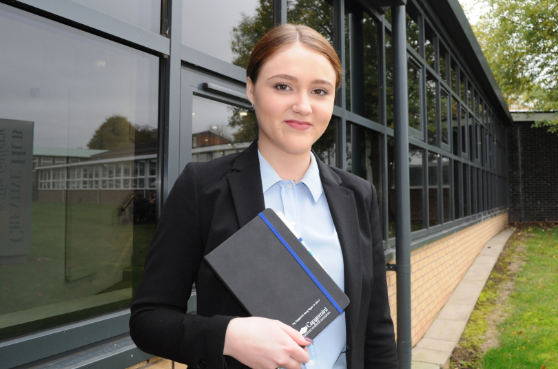 Tayler Jarvis, who is on a degree apprenticeship with Capgemini