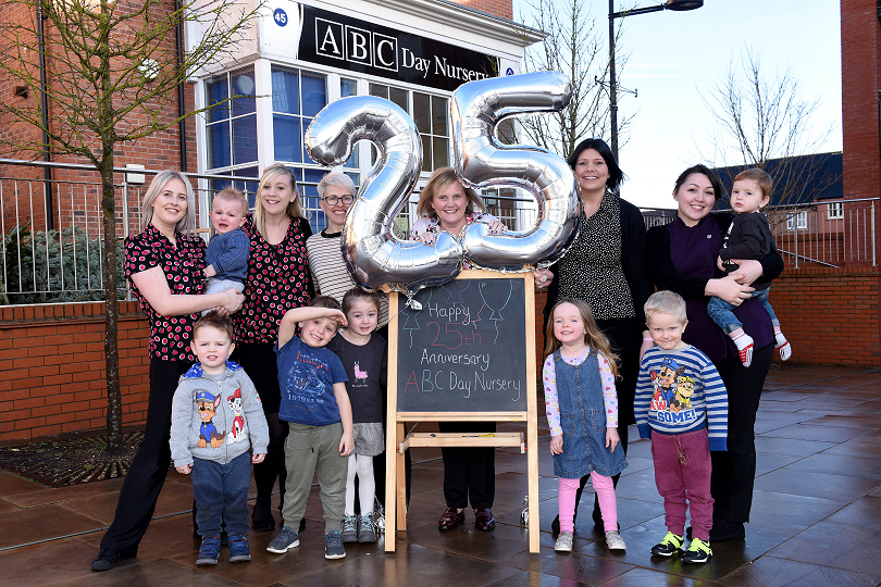 ABC Day Nursery is celebrating it's 25th anniversary this year - staff at Lightmoor celebrate
