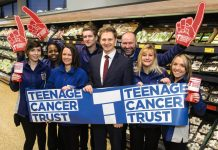 Aldi employees raise money in stores for the Teenage Cancer Trust