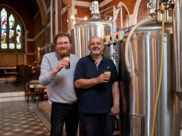 Chris Jones and Eric Berill at St. Anne's Brewery