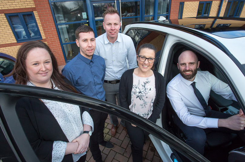 Kyle Peck, Jason Briscoe, Jennie Roe, Andy Scott, Adrian Hide (Senior Consultant – Road Safety) and Elaine Brown
