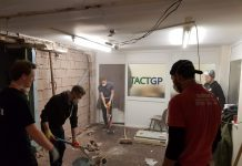 Work has been underway over Christmas to get the dance school ready for the new term